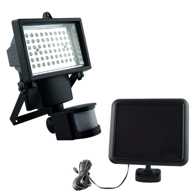 60LEDS Solar Powered Led Security Lights , Led Wireless Motion Sensor Light