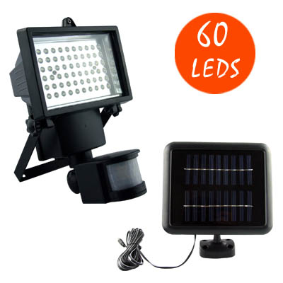60LED Solar Motion Security Light Outdoor Sensor Floodlight