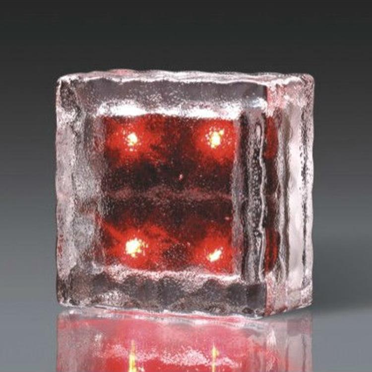 Glass Ice Brick Shape Solar Deck Light,Solar Brick LED Landscape Light,Solar Power LED Ground Crystal Glass Ice Brick Shape