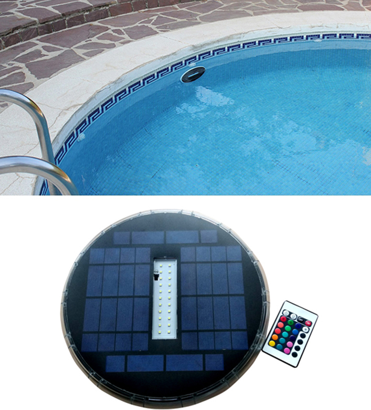 Solar Swimming Pool Light,Solar Powered Underwater Pool Light,Underwater Solar Lamp Deep Blue Led Color